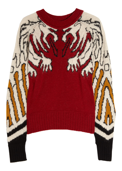 Carven - Gargoyle knitted intarsia sweater
