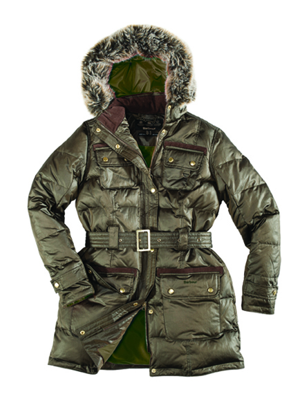 Barbour puff jacket